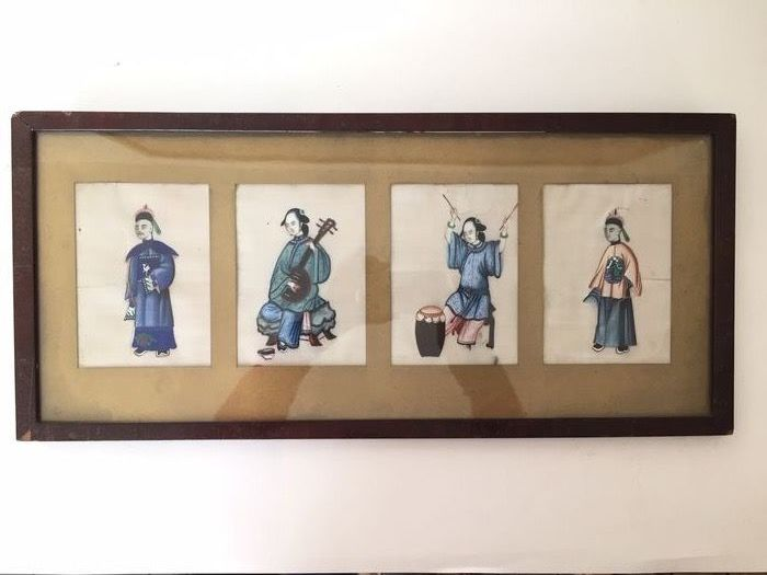 Rice paper painting - Pith paper, Rice paper - China - 19th century