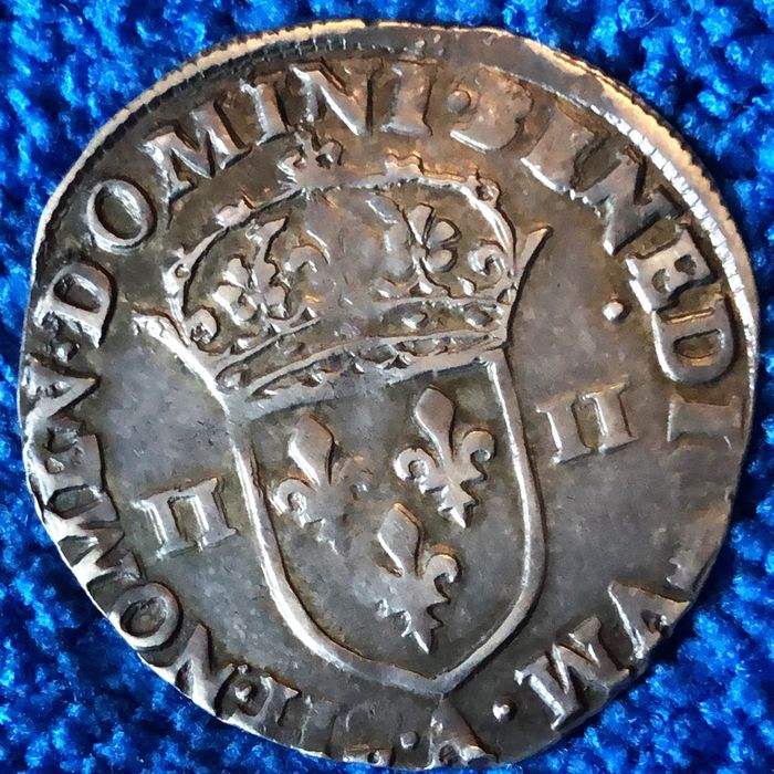 France - Charles X de Bourbon (1589-1590) - 1/4 Ecu 1590-A (Paris) - Silver