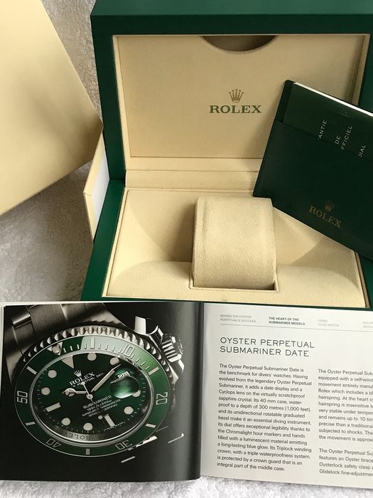 Rolex - Submariner Hulk New Box Very Nice in Paper and Wallet - 39139.04 - Homme - 2011-aujourd'hui