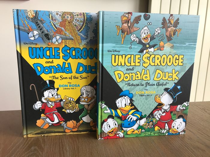 """Carl Barks and Don Rosa Library  - Don Rosa Library Vol. 1 + Vol. 2; 'Only A Poor Old Man"""" + """"The Seven Cities of Gold - Cartonné - EO - (2014/2015)"""