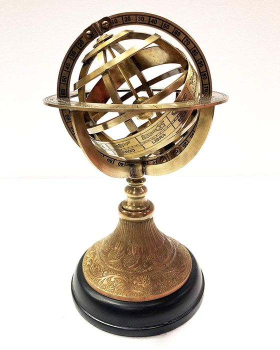 Unique Large Gold Colored Armillary Sphere - Brass