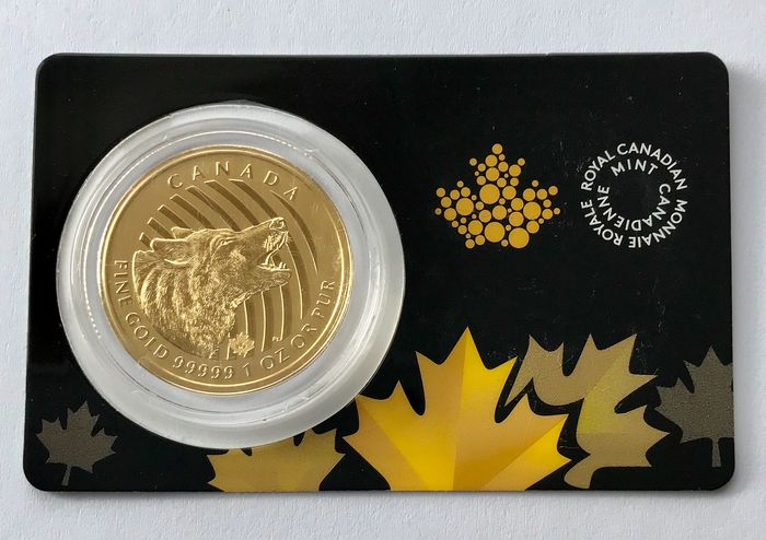 Canada - 200 Dollar 2014 - Call of the Wild - Howling Wolf - 1 oz - Gold