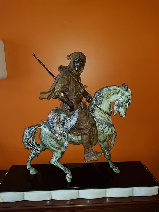 """Edited by Barye and Son - Sculpture, After the model titled """"Arab rider"""" created by Emile Guillemin (1841-1907)"""