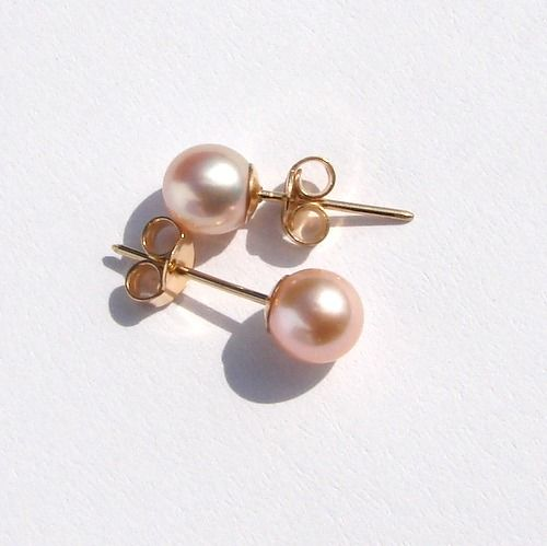 18 kt. Yellow gold - Earrings Japanese seawater cultured  pearls 6.6mm  AAA,size 17mm