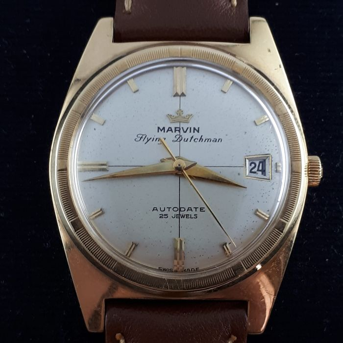 Marvin - Vintage Flying Dutchman, Automatic, 18k Yellow Gold - Uomo - 1950-1959