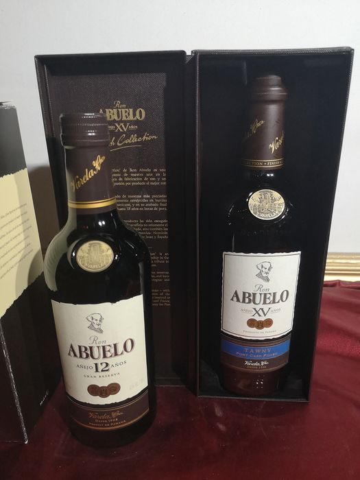 Abuelo 15 years old - 15 years Tawny Port Cask Finish & 12 years Gran Reserva - 70cl - 2 bottiglie