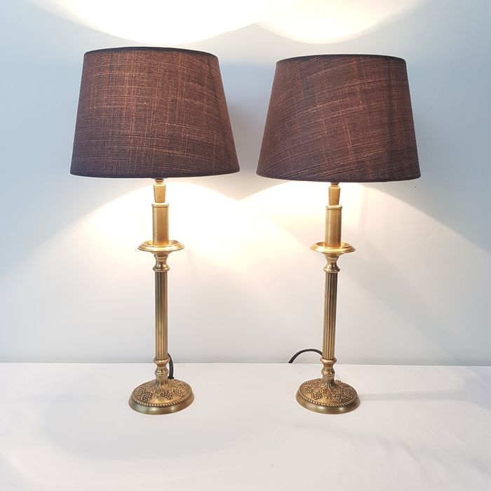 Two identical table lamps - Brass