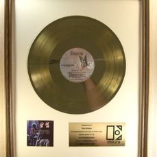 "Doors - ""Absolutely Live"" LP Gold Record Award Presented To The Doors - Officieel in-House award - 1970/1975"