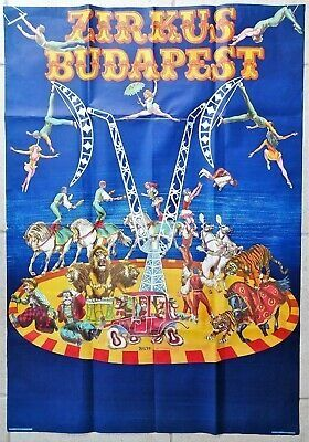 "by B.S. - Edito N. H. Offset Es. J. Nyomda - ""Zirkus Budapest"" Original Advertising Poster - Paper"