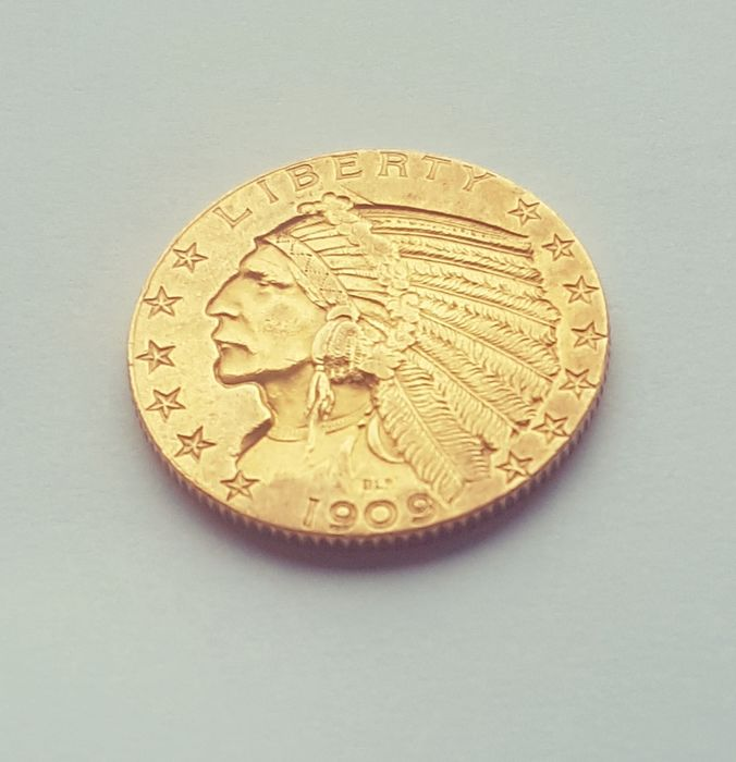 United States - 5 Dollars 1909 Indian Head - Gold