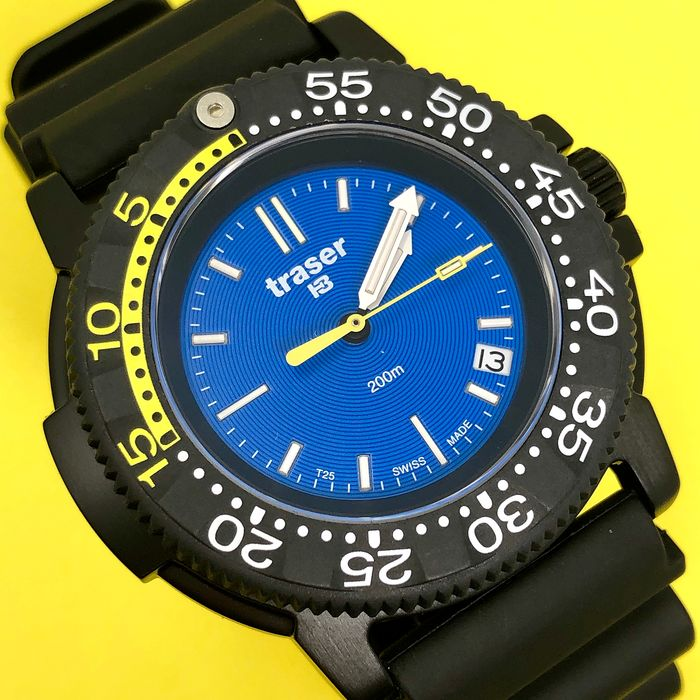 Traser - H3 Nautic with Titanium Case and Black Rubber Strap Swiss Made - 100276 - Unisex - Brand New