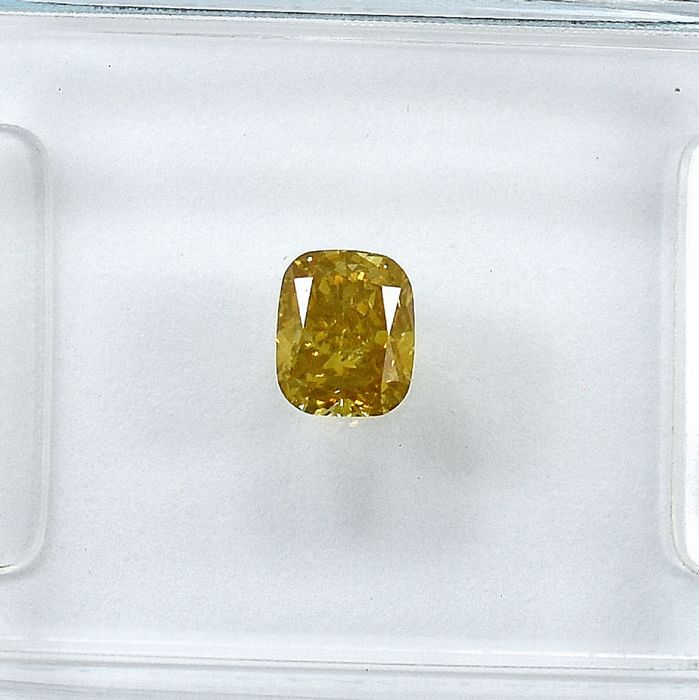 Diamant - 0.34 ct - Kissen - Natural Fancy Brownish Yellow - Si1 - NO RESERVE PRICE