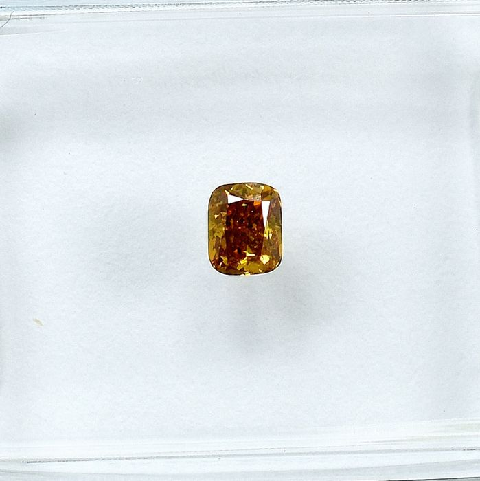 Diamant - 0.17 ct - Coussin - Natural Fancy Brownish Yellow - Si2 - NO RESERVE PRICE