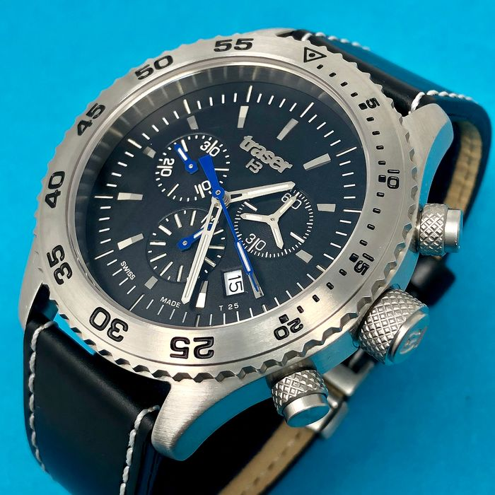 "Traser - T5 Aurora Chronograph with Leather Strap Swiss Made - 106832 ""NO RESERVE PRICE"" - Homme - Brand New"