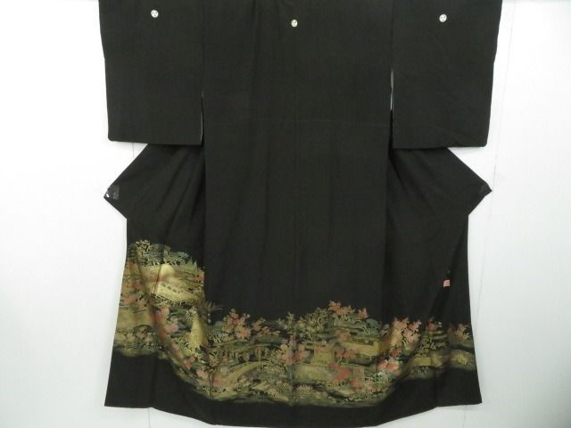 Kimono - Seta - With Palace in the garden patterns - Giappone - 21° secolo