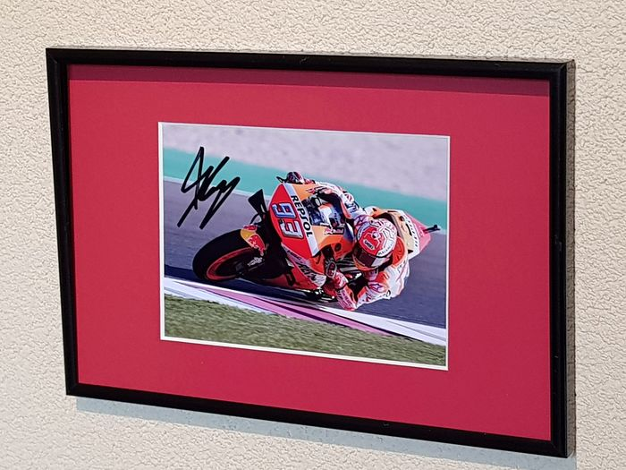 MotoGP - MotoGP Champion Marc Marquez - hand signed framed photograph