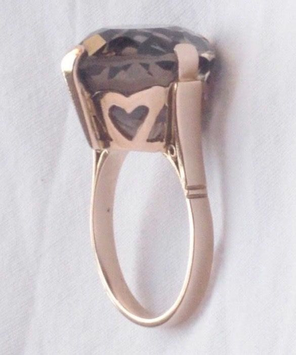 18 kt. Yellow gold - Ring Topaz