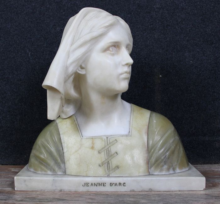 Bust of Joan of Arc in alabaster after Henri Chapu (1833-1891) - Alabaster - mid 19th century