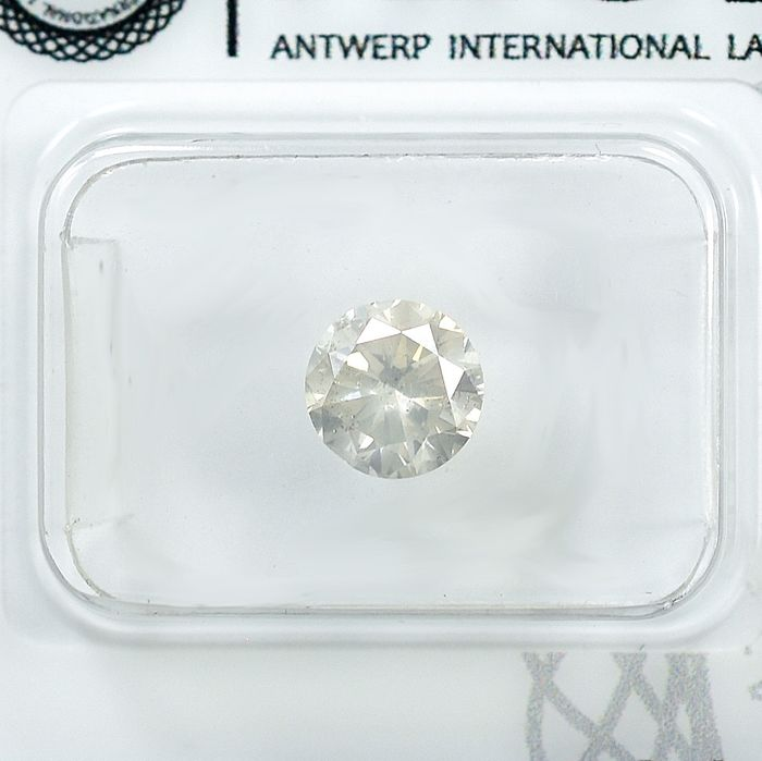 Diamant - 0.91 ct - Brillant - light Yellowish Gray - I1 - VG/VG/VG - NO RESERVE PRICE