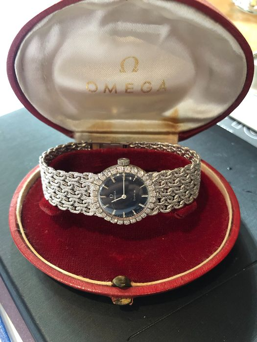 Omega - classique or blanc 18ct diamants  - Damen - 1990-1999