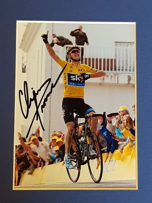 Tour de France Winner - Cycling - Chris Froome - hand signed framed autograph