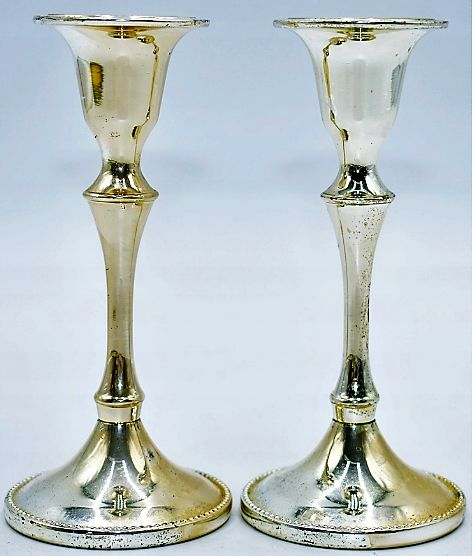 Candlestick (1) - Silverplate - Germany - Early 20th century