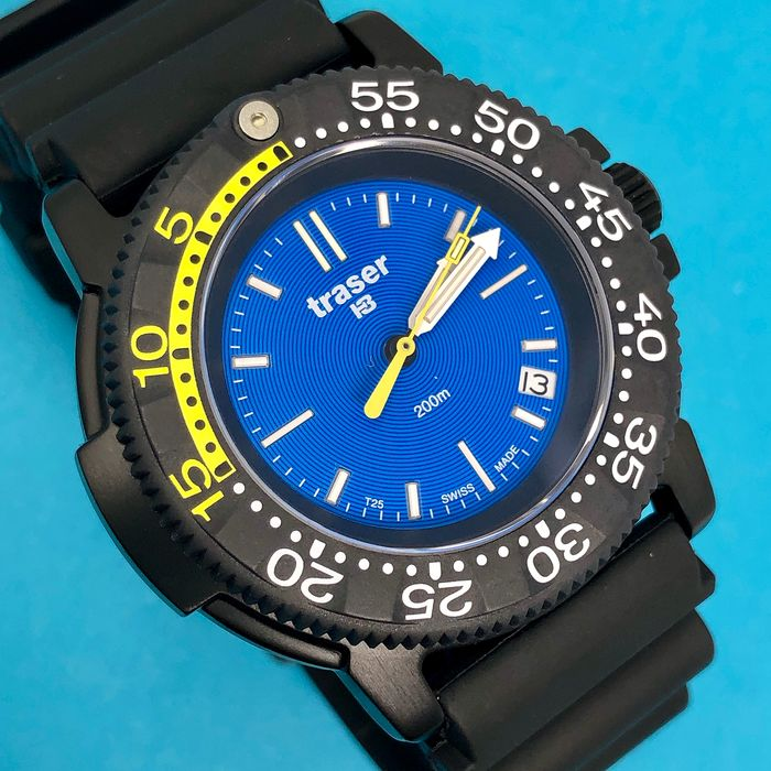 "Traser - H3 Nautic with Titanium Case and Black Rubber Strap Swiss Made - 100276 ""NO RESERVE PRICE"" - Men - Brand New"
