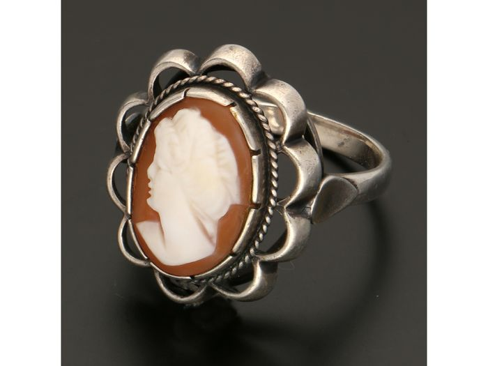 835 Silver - Ring Cameo
