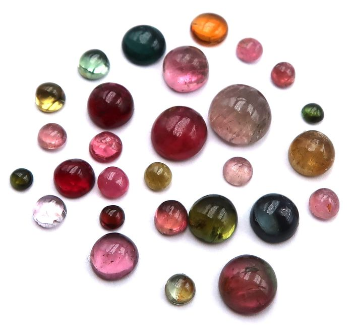 28 pcs Mixed colors Tourmaline - 10.75 ct