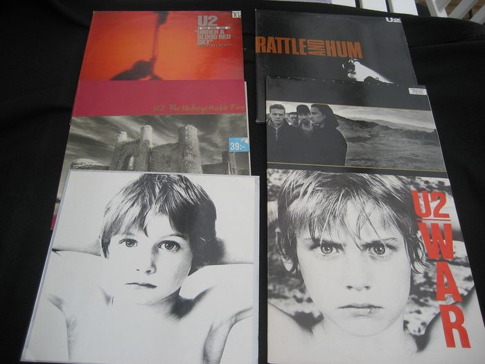 U2 - Boy, War, Joshua Tree, Unforgettable Fire, Rattle And