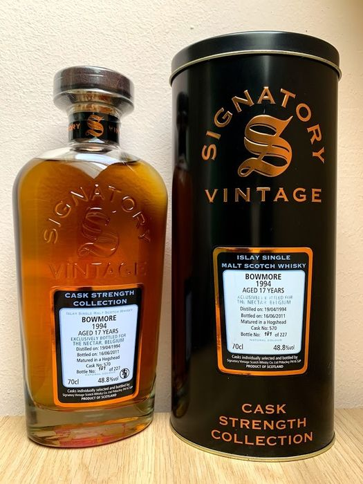 Bowmore 1994 17 years old Cask Strength Collection - Signatory Vintage - 70cl