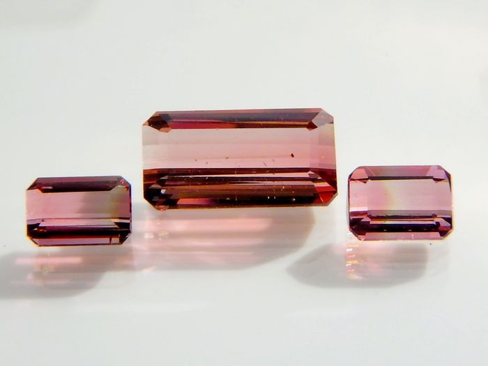 3 pcs Pink Tourmaline - 2.90 ct