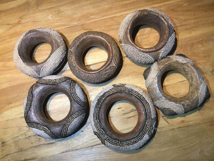 Bangles (6) - Beads, Pottery - Africa