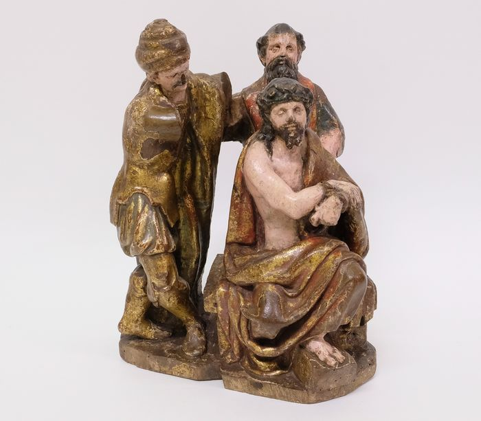 Sculpture, Retable fragment in sculpted wood of Christ - Wood - 16th century