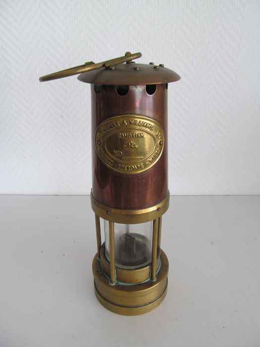 E.Thomas & Williams  - Copper mine lamp - Buyer