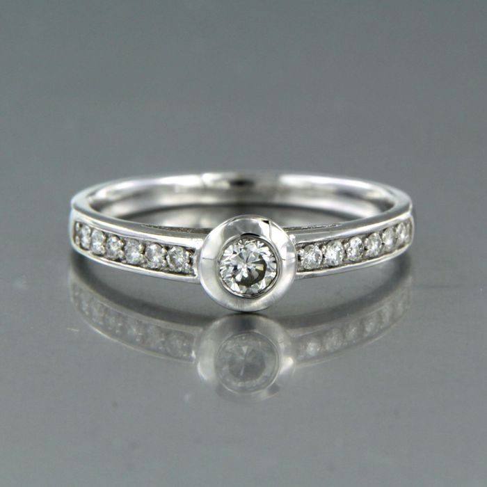 14 karaat Witgoud - Ring - 0.30 ct Diamant
