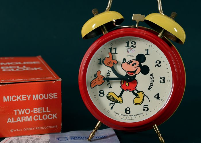 Bradley - Walt Disney Productions - unused Mickey Mouse Alarm Clock in original box  - 60's
