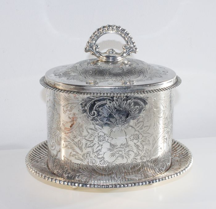 Large cookie jar - Art Deco - Silvered