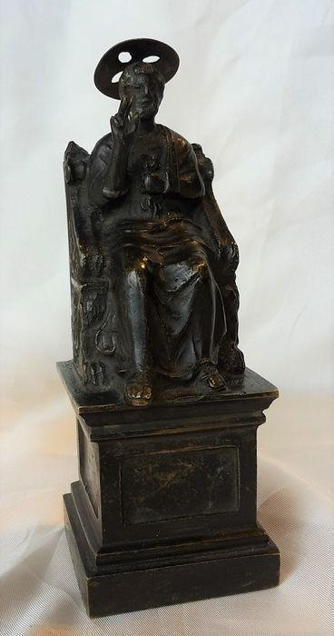 after Arnolfo di Cambio Grand Tour statue St Peter - Patinated bronze - 19th century
