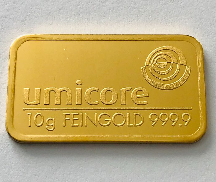10 grammes - Or .999 (24 carats) - Umicore