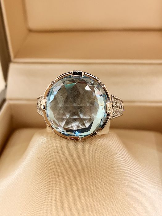 bague or blanc diamant bulgari