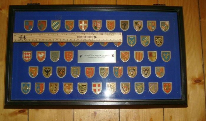 Franklin Mint - The most famous Coats Of Arms of The Great Monarchs of History - approx. 670 gram sterling silver and 24 carat gold