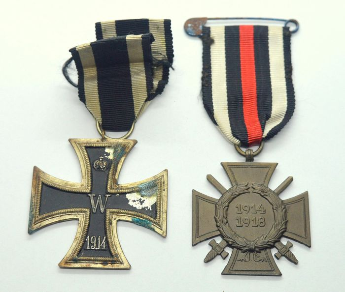 Alemania - WW1 Iron Cross + Hindenburg Cross 1914-1918 - Medalla - 1914