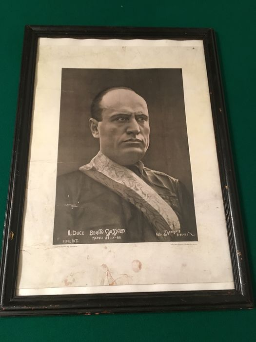 Italy - ~ Large painting by B. Mussolini ~ - 1922