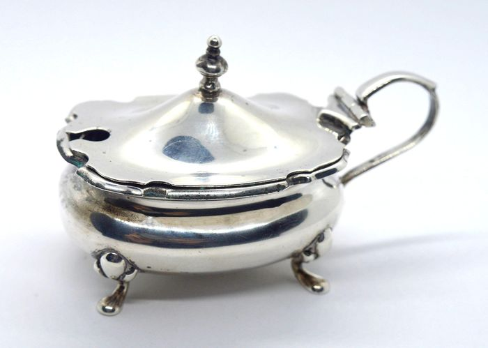 Cooper Brothers & Sons - Mustard Pot (1) - .925 silver, Glass