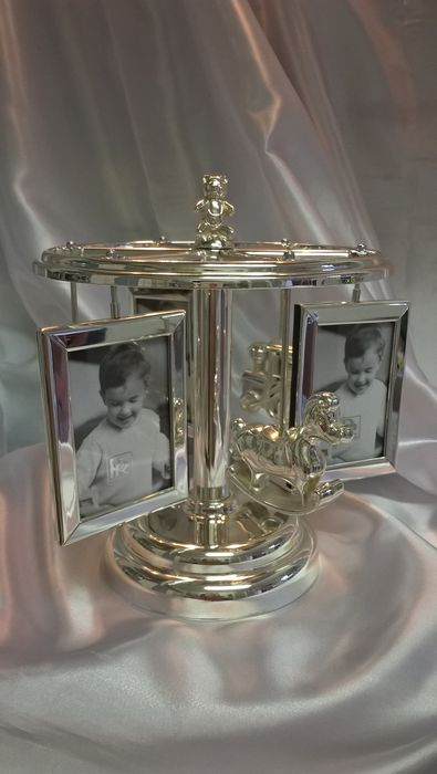 Baby music box (1) - Silver plated - Belgium - Second half 20th century