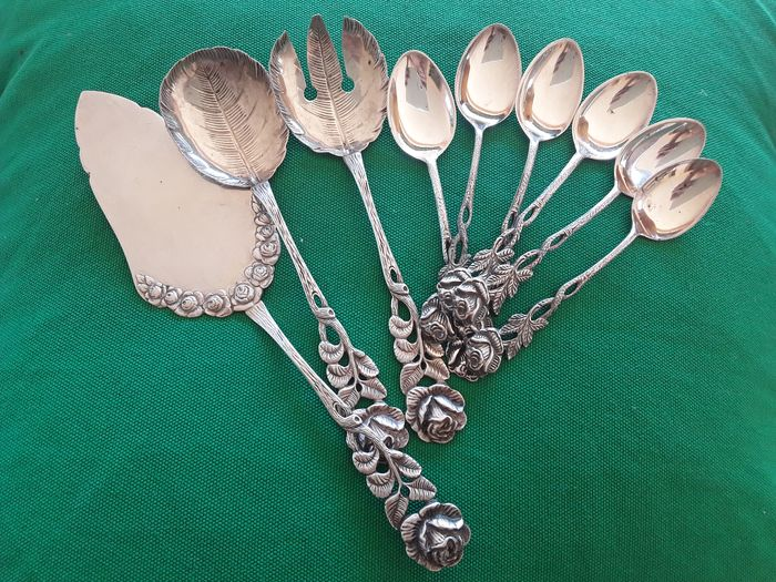 Cutlery set (9) - .800 silver - Antiko - Germany - Early 20th century