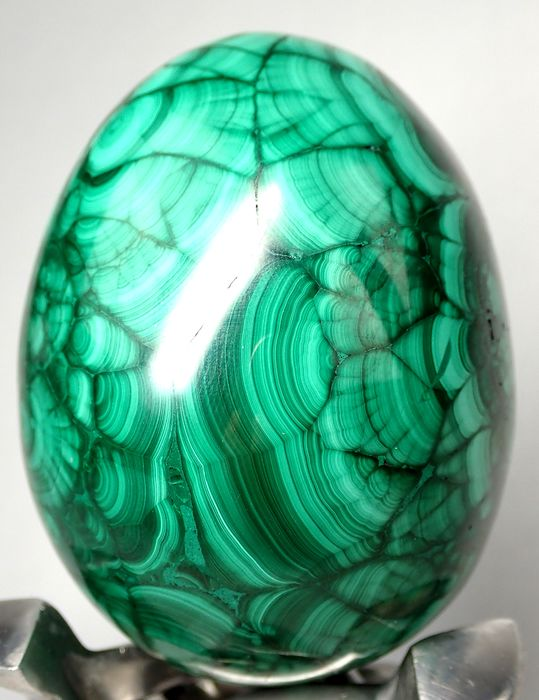 First Quality Malachite Egg Egg 3090ct - 80.89×62.46×62.33 mm - 618 g