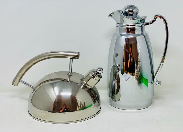 Design teapot with thermos - Stainless steel