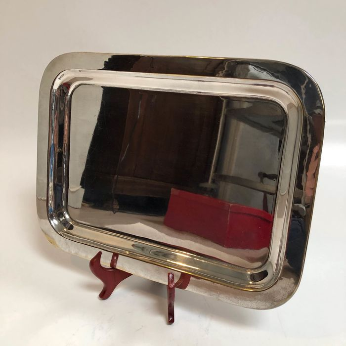 Serving tray - Silver plated - Germany - Mid 20th century